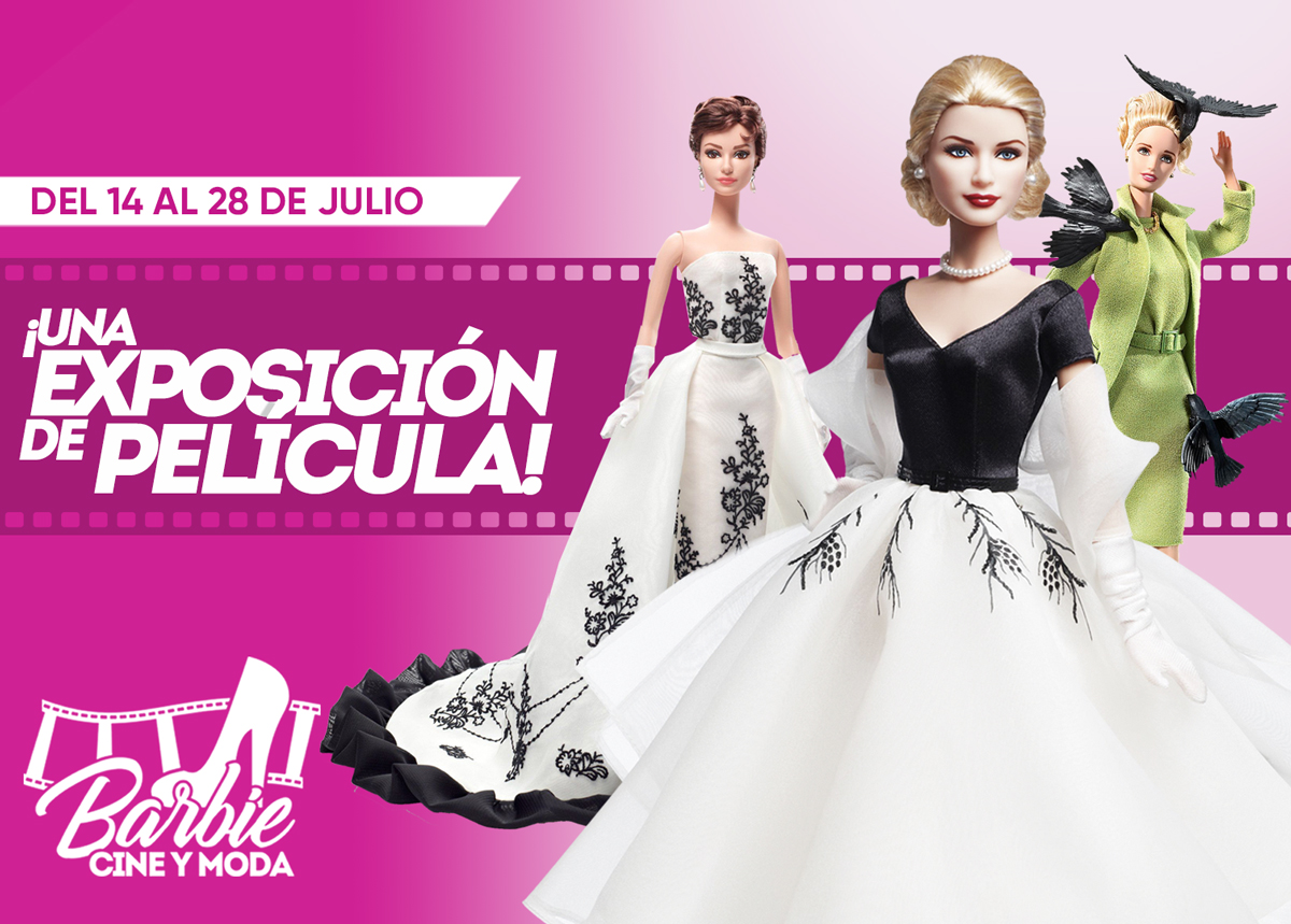 Banner exposicion Barbie Cine y Moda